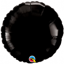 "Black Round Foil Balloon (18"") 1pc"